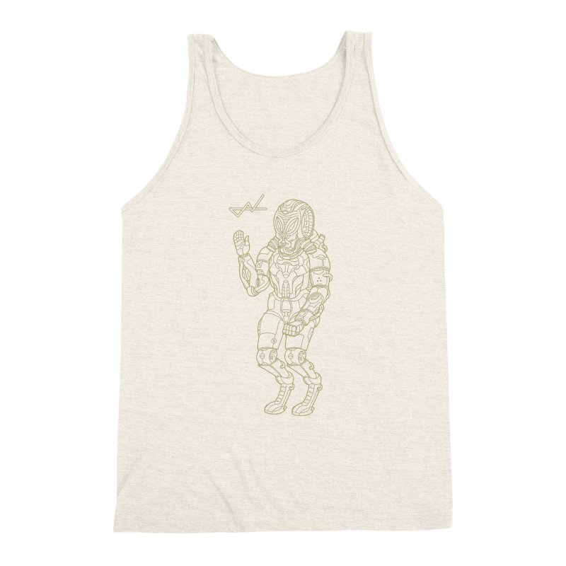 Alien Astronaut Line Men's Triblend Tank by shinobiskater's Artist Shop