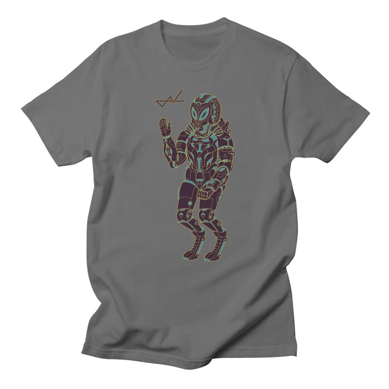 Alien Astronaut Warpaint Mode Men's T-shirt by shinobiskater's Artist Shop