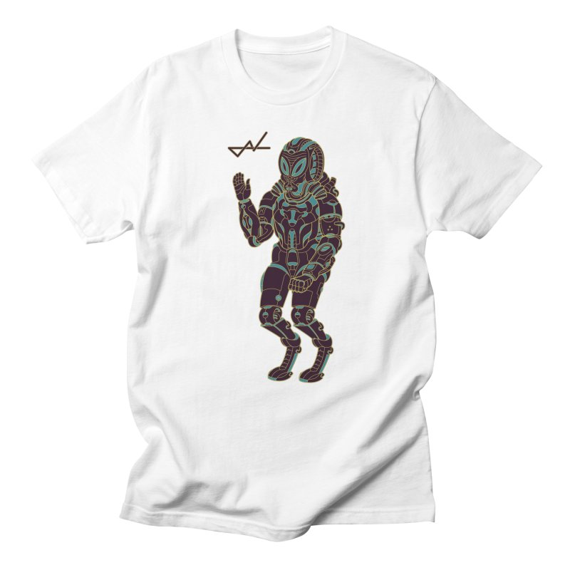 Alien Astronaut Warpaint Mode Men's T-shirt by shinobiskater's Artist Shop