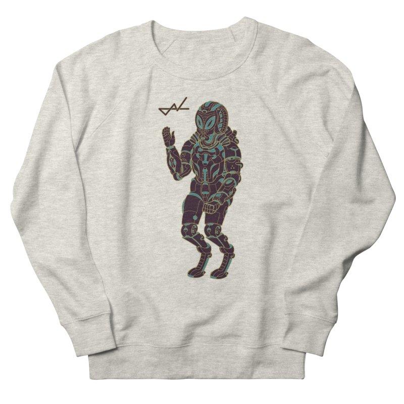 Alien Astronaut Warpaint Mode Men's Sweatshirt by shinobiskater's Artist Shop