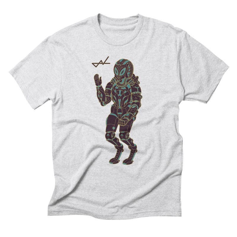 Alien Astronaut Warpaint Mode Men's Triblend T-Shirt by shinobiskater's Artist Shop