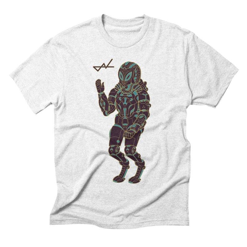 Alien Astronaut Warpaint Mode Men's Triblend T-shirt by shinobiskater's Artist Shop