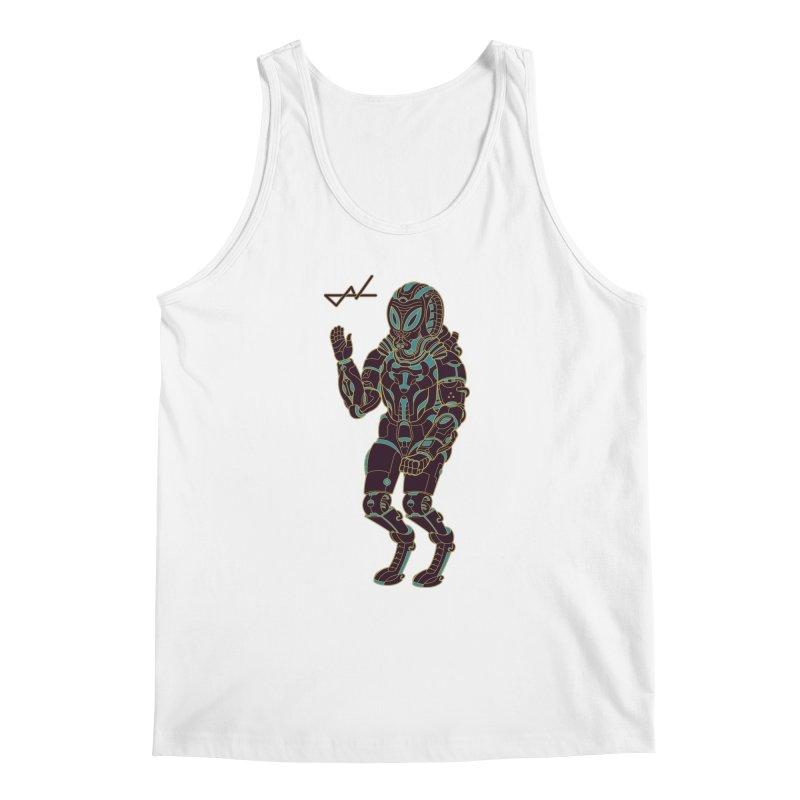 Alien Astronaut Warpaint Mode Men's Tank by shinobiskater's Artist Shop
