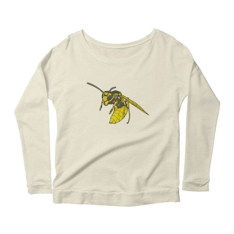 Drone Wasp Women's Longsleeve Scoopneck  by shinobiskater's Artist Shop