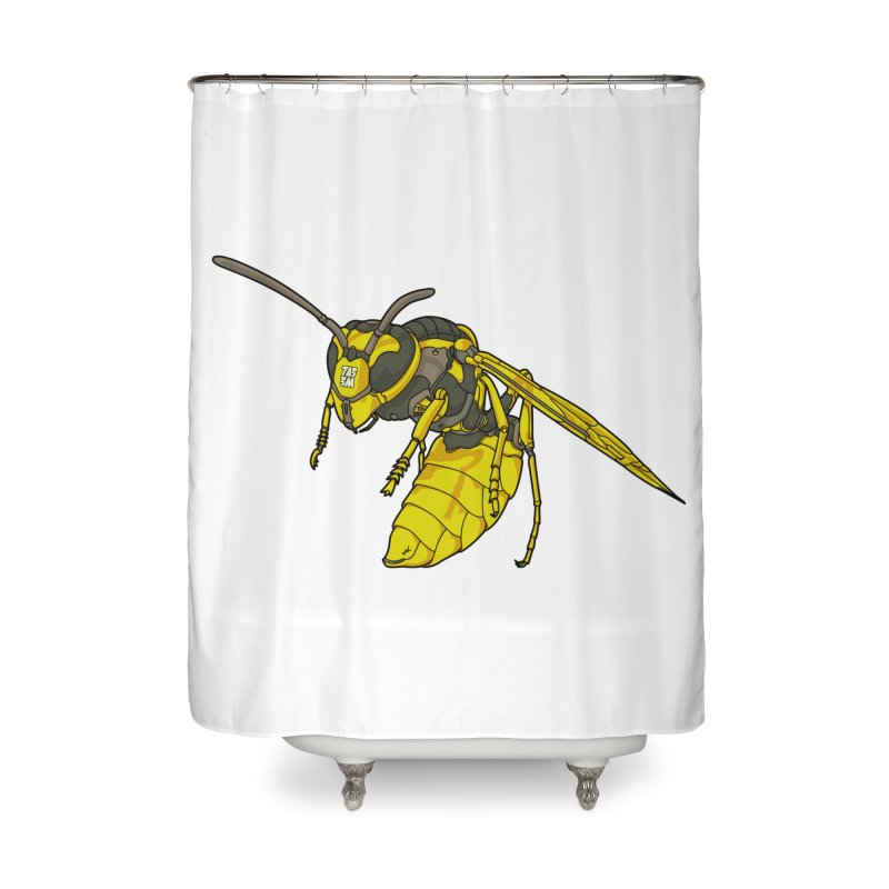 Drone Wasp Home Shower Curtain by shinobiskater's Artist Shop