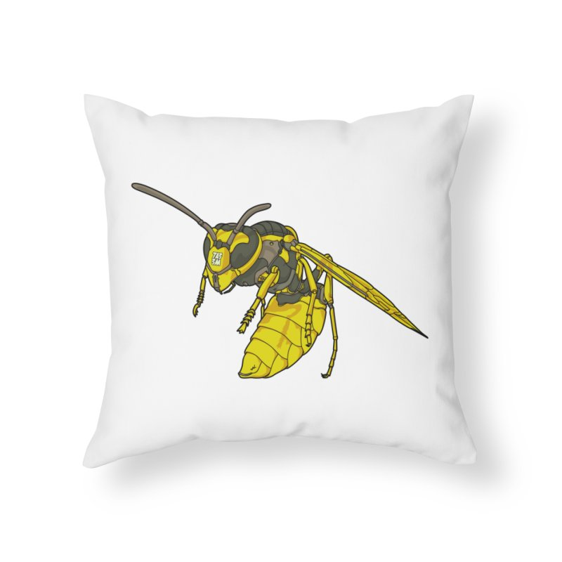 Drone Wasp Home Throw Pillow by shinobiskater's Artist Shop