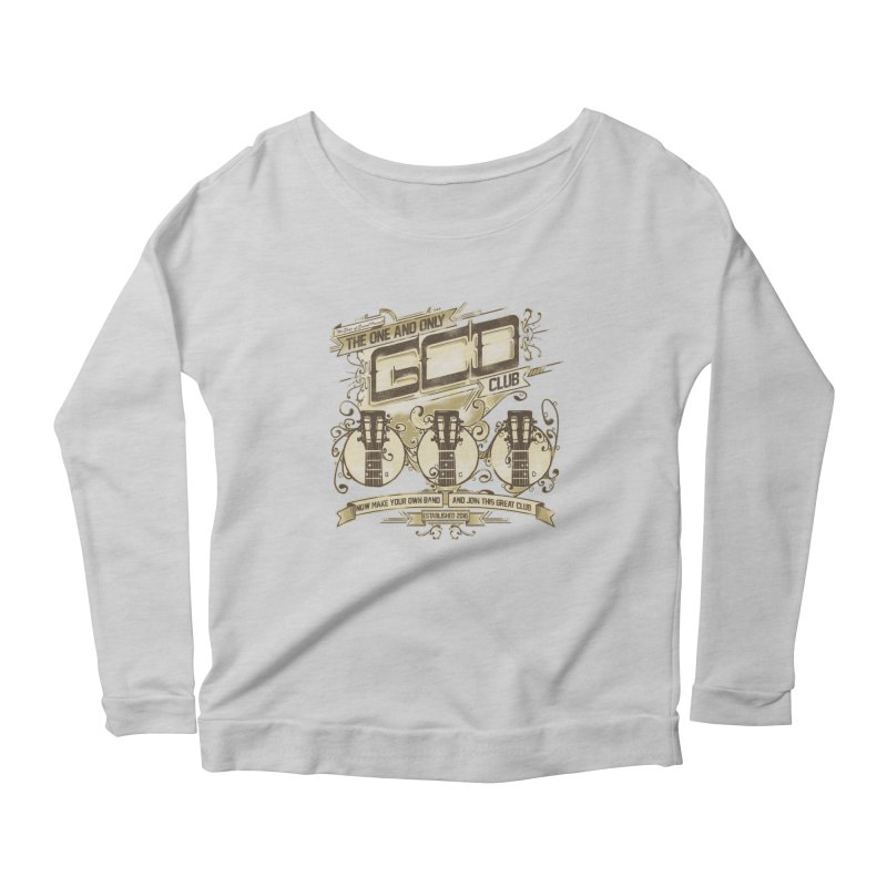 The Great Club Women's Scoop Neck Longsleeve T-Shirt by JQBX Store - Listen Together