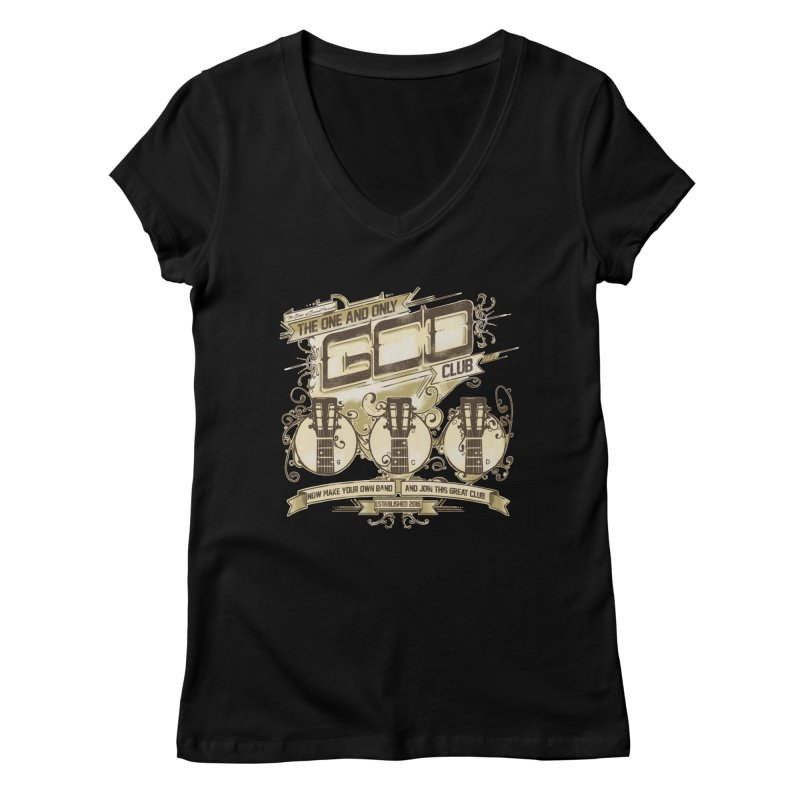 The Great Club Women's Regular V-Neck by JQBX Store - Listen Together