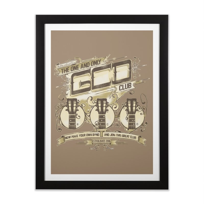 The Great Club Home Framed Fine Art Print by JQBX Store - Listen Together
