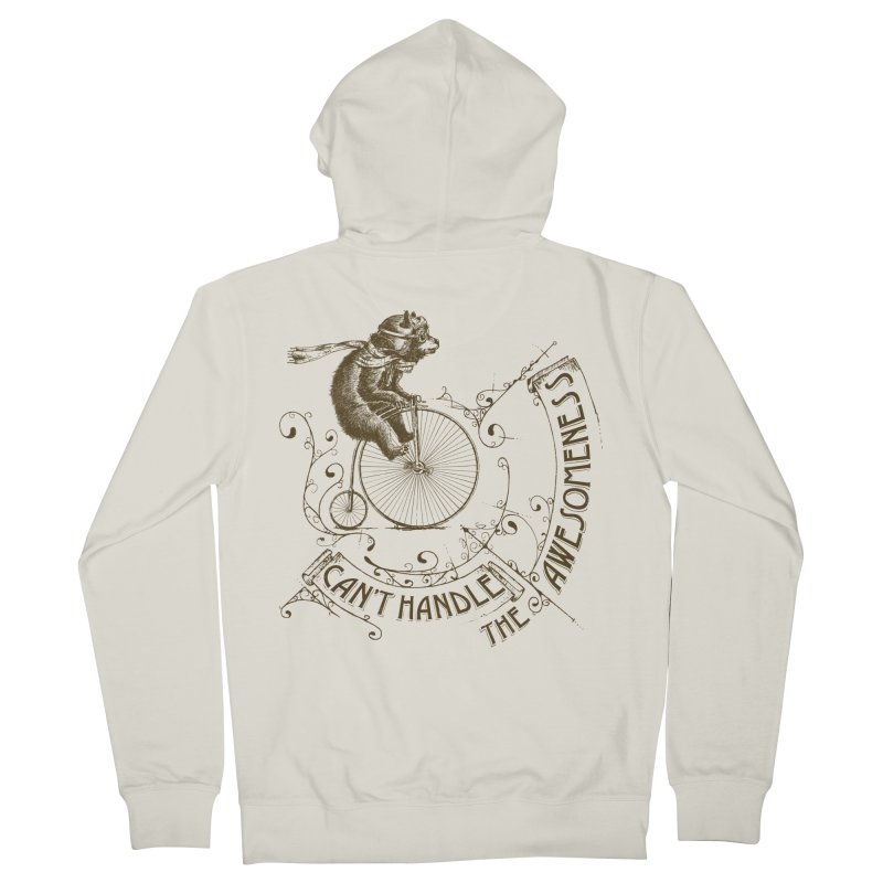 Take a walk on the awesome side Women's French Terry Zip-Up Hoody by JQBX Store - Listen Together