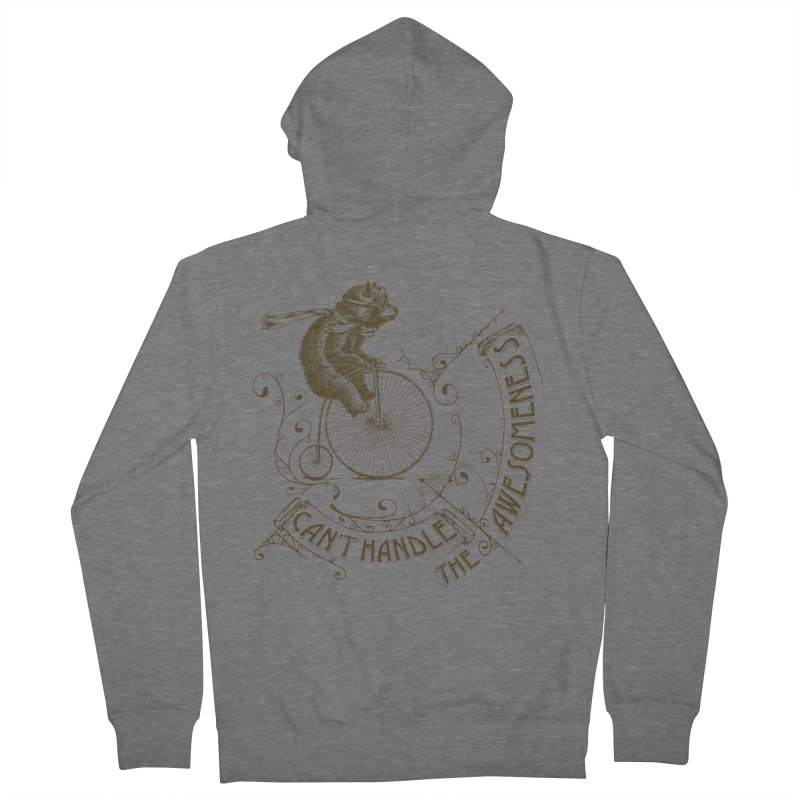 Take a walk on the awesome side Men's French Terry Zip-Up Hoody by JQBX Store - Listen Together