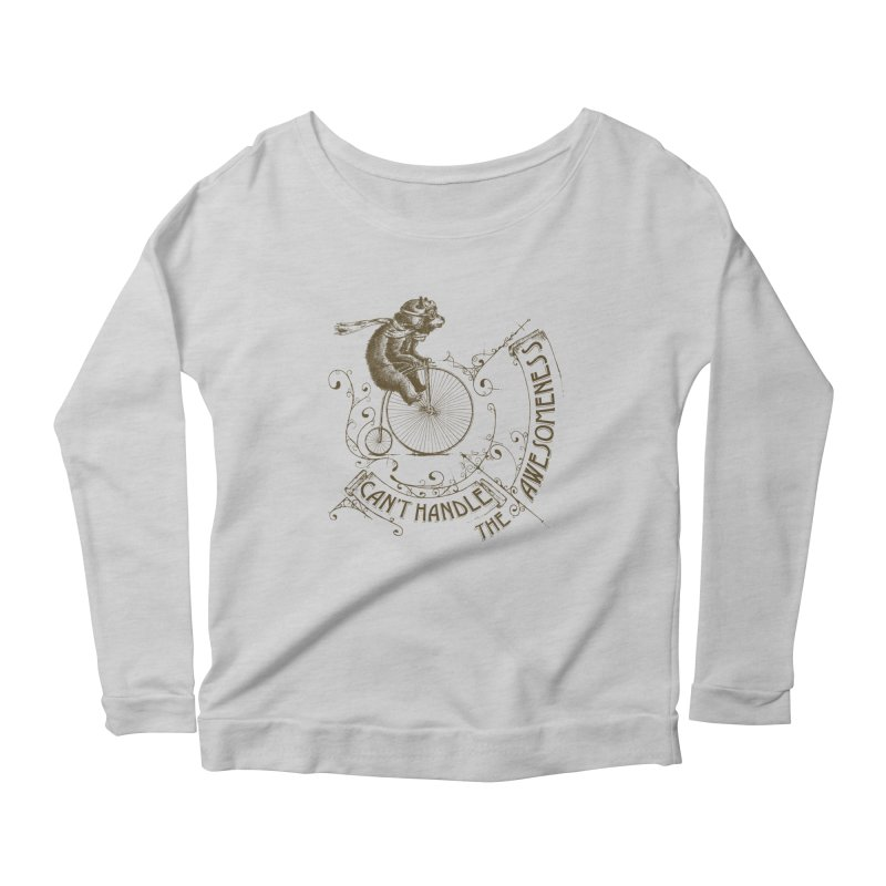 Take a walk on the awesome side Women's Scoop Neck Longsleeve T-Shirt by JQBX Store - Listen Together