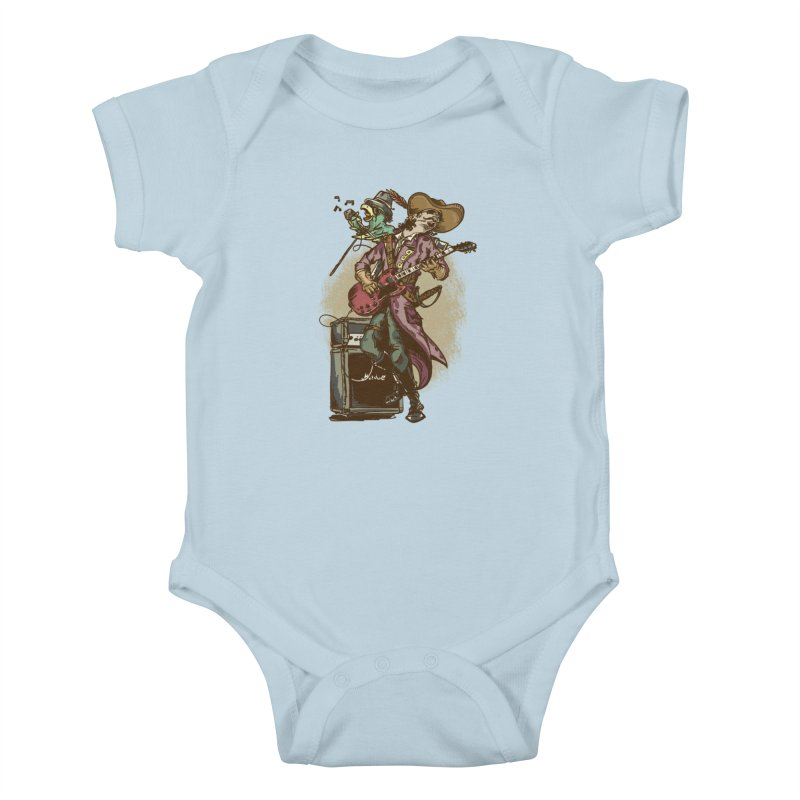 Anyone can play guitar Kids Baby Bodysuit by JQBX Store - Listen Together