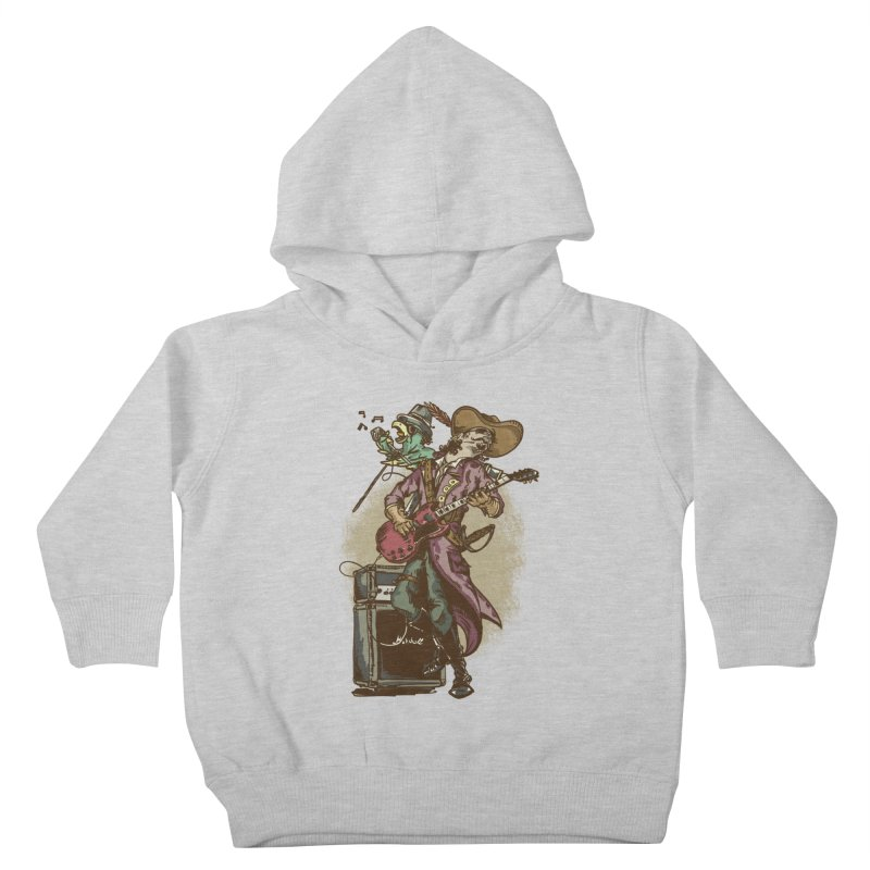 Anyone can play guitar Kids Toddler Pullover Hoody by JQBX Store - Listen Together