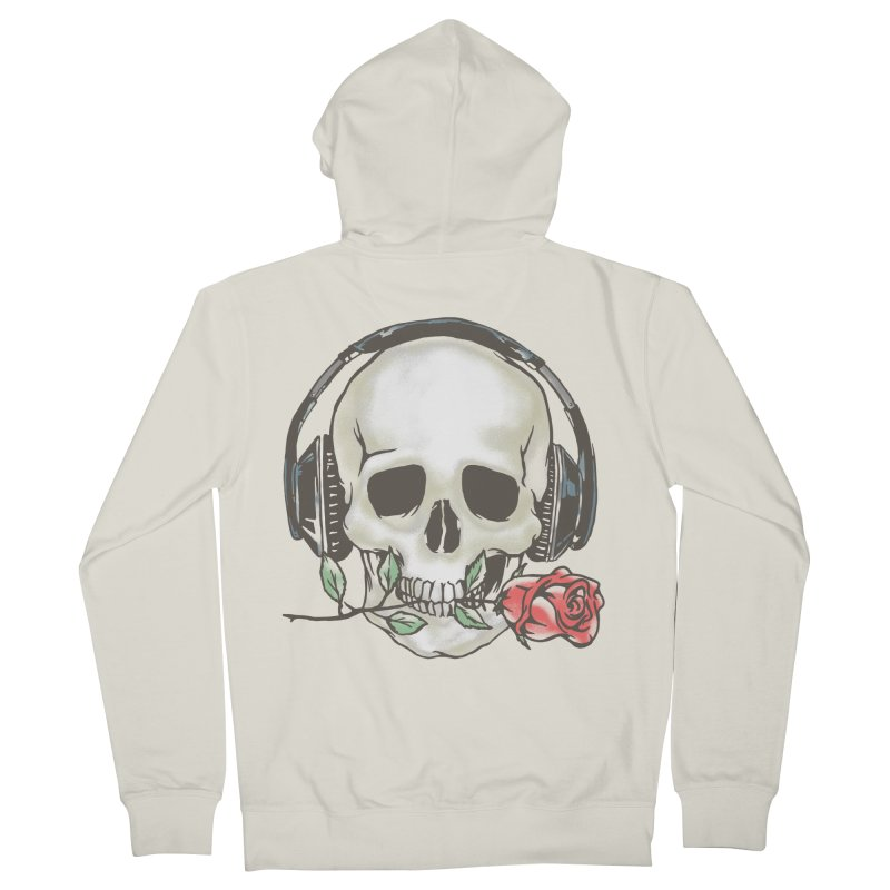 Musical Muse Women's French Terry Zip-Up Hoody by JQBX Store - Listen Together