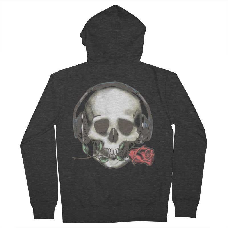 Musical Muse Men's French Terry Zip-Up Hoody by JQBX Store - Listen Together