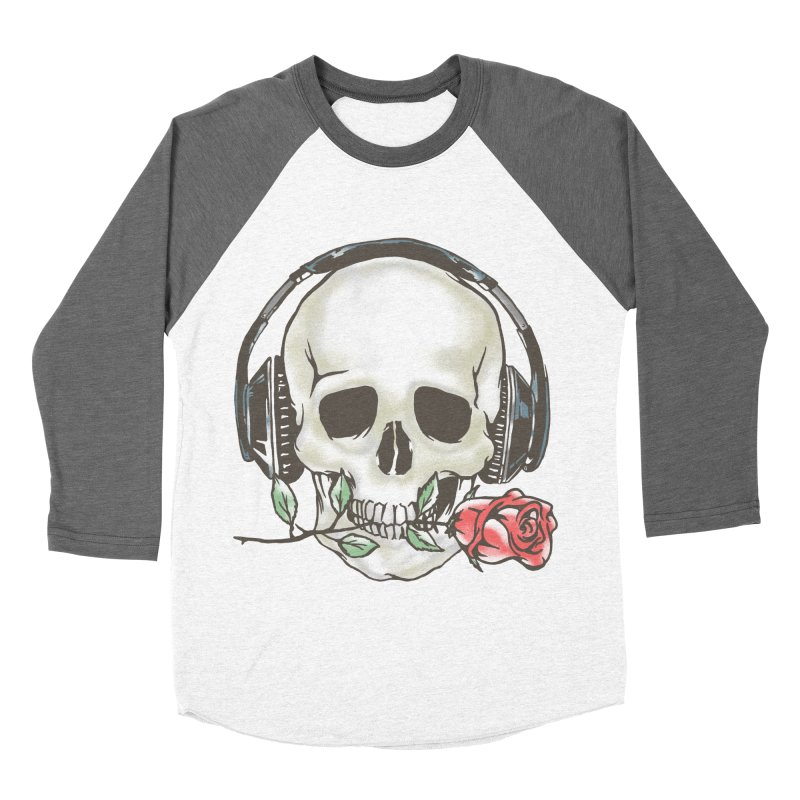 Musical Muse Women's Baseball Triblend Longsleeve T-Shirt by JQBX Store - Listen Together