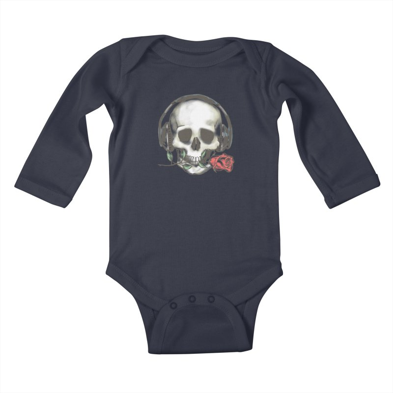 Musical Muse Kids Baby Longsleeve Bodysuit by JQBX Store - Listen Together