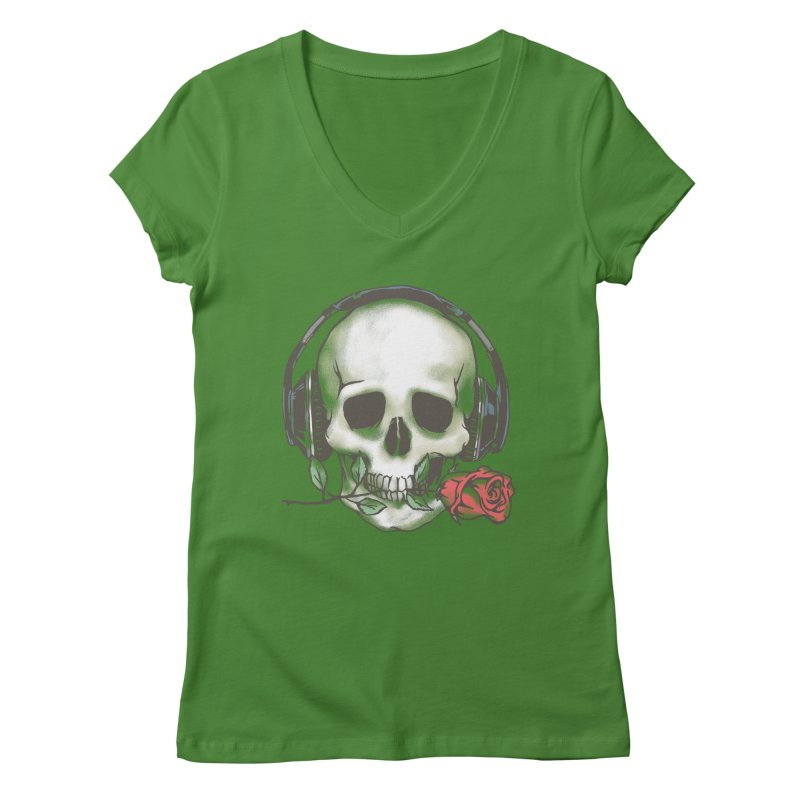 Musical Muse Women's V-Neck by JQBX Store - Listen Together