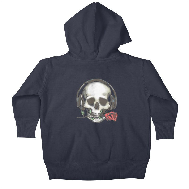 Musical Muse Kids Baby Zip-Up Hoody by JQBX Store - Listen Together