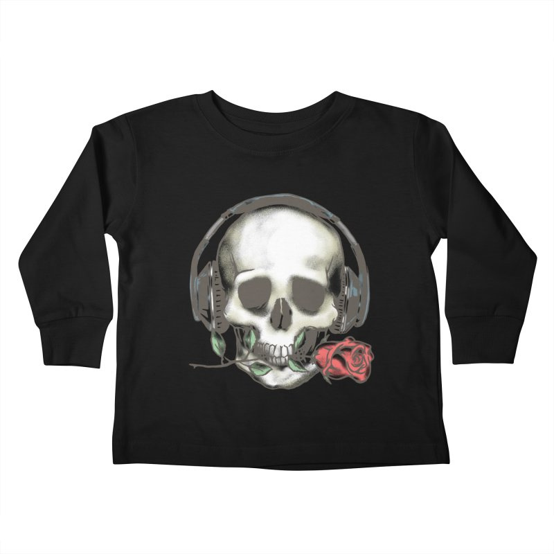 Musical Muse Kids Toddler Longsleeve T-Shirt by JQBX Store - Listen Together
