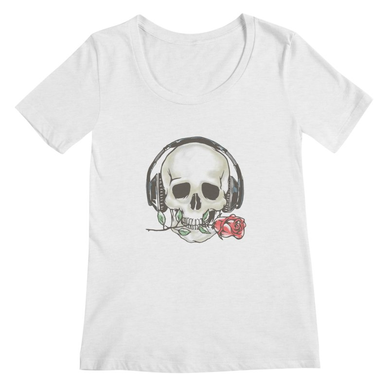 Musical Muse Women's Regular Scoop Neck by JQBX Store - Listen Together