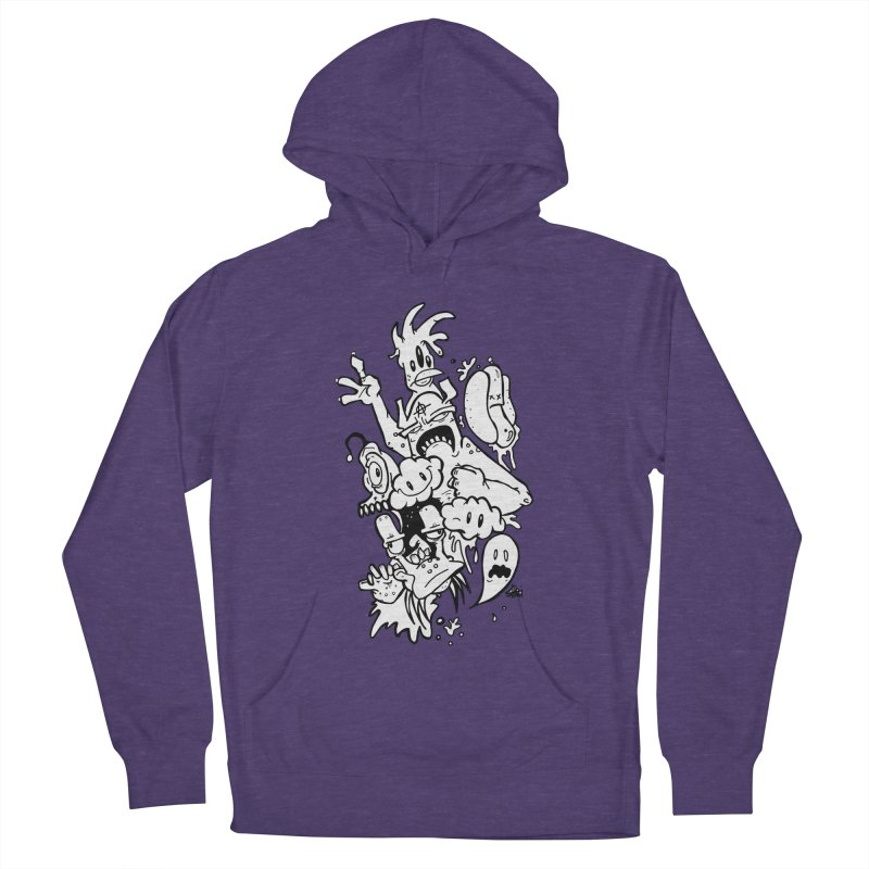 It's now or never  in Men's Pullover Hoody Heather Purple by Shiroi Usagi Artist Shop