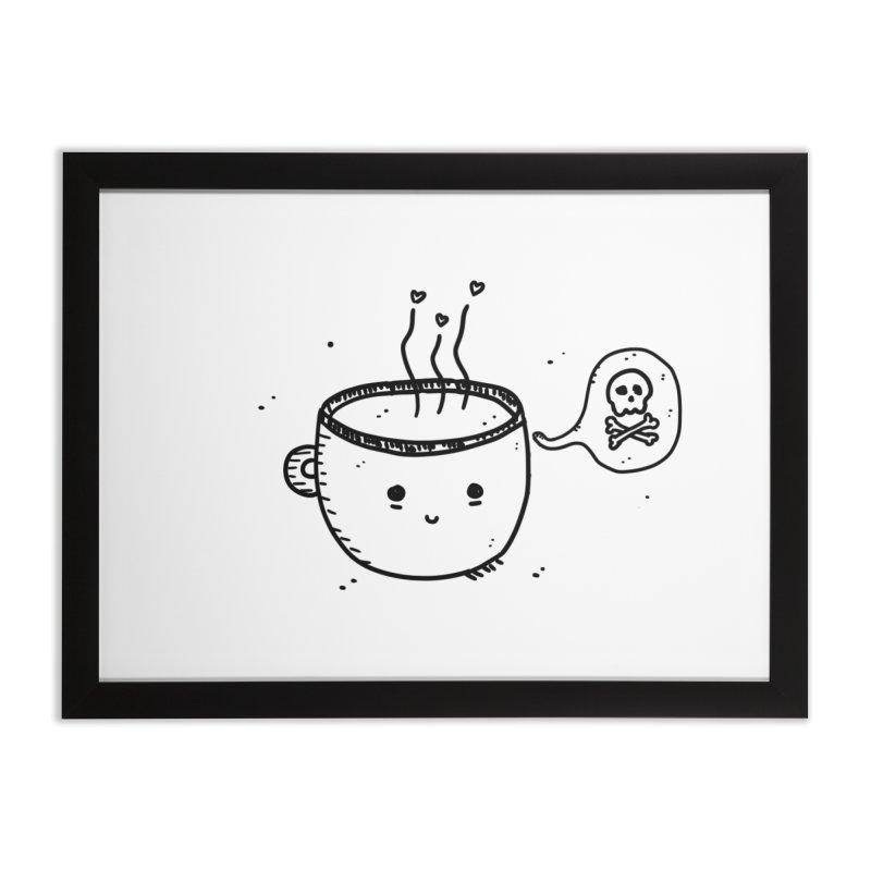 Cup o' Jo Home Framed Fine Art Print by Shirt Folk