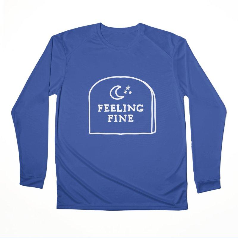 Feeling Fine: Lights Out Edition Men's Performance Longsleeve T-Shirt by Shirt Folk