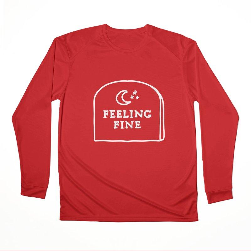 Feeling Fine: Lights Out Edition Women's Performance Unisex Longsleeve T-Shirt by Shirt Folk
