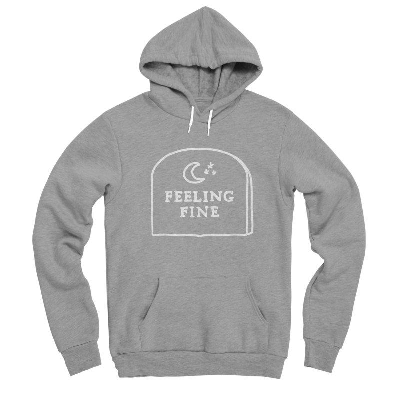 Feeling Fine: Lights Out Edition Women's Sponge Fleece Pullover Hoody by Shirt Folk