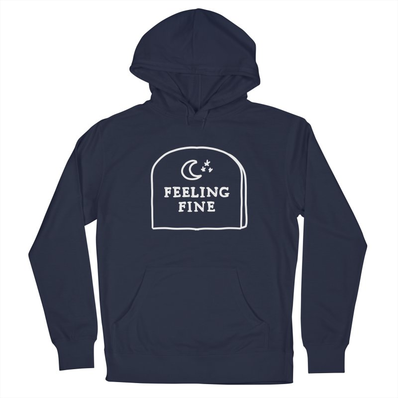 Feeling Fine: Lights Out Edition Men's French Terry Pullover Hoody by Shirt Folk