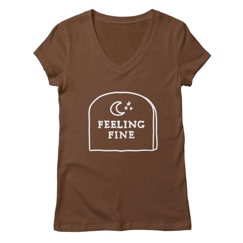 Feeling Fine: Lights Out Edition Women's Regular V-Neck by Shirt Folk