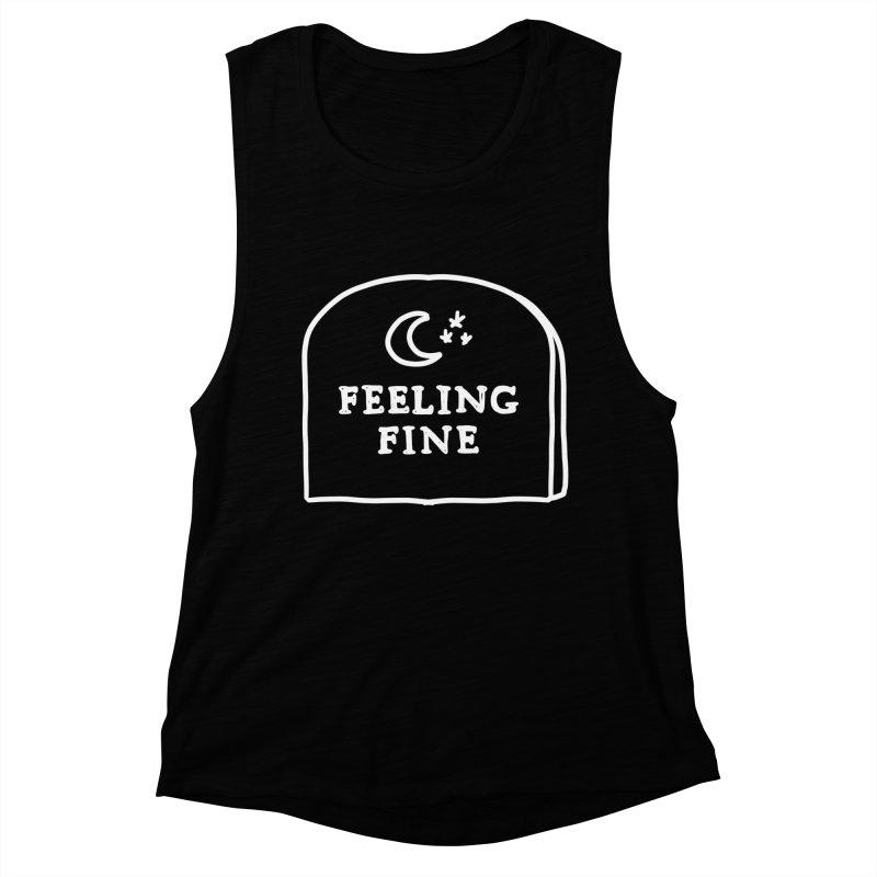 Feeling Fine: Lights Out Edition Women's Muscle Tank by Shirt Folk