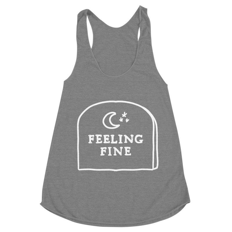 Feeling Fine: Lights Out Edition Women's Racerback Triblend Tank by Shirt Folk