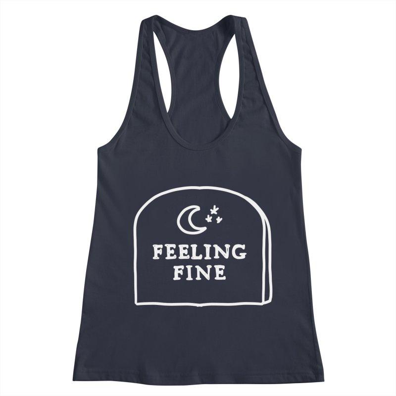 Feeling Fine: Lights Out Edition Women's Racerback Tank by Shirt Folk