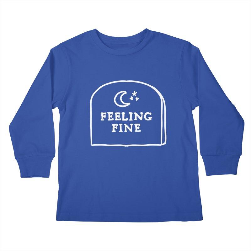 Feeling Fine: Lights Out Edition Kids Longsleeve T-Shirt by Shirt Folk