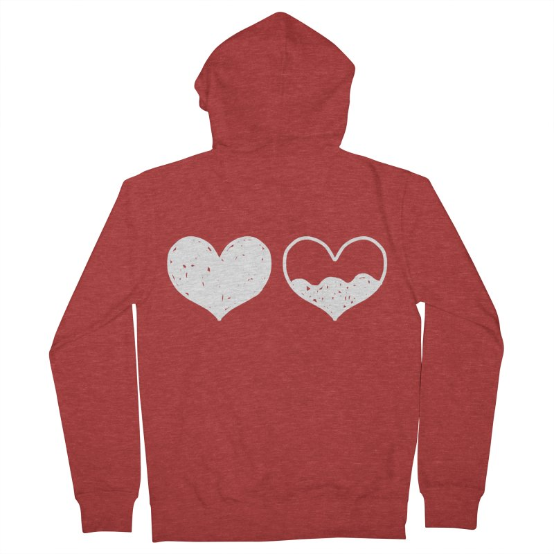 Overflow: Lights Out Edition Men's French Terry Zip-Up Hoody by Shirt Folk