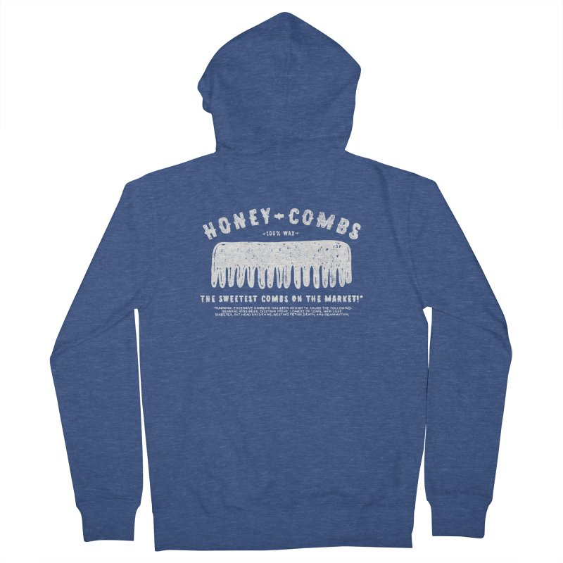Honey-Combs : Lights Out Edition Women's French Terry Zip-Up Hoody by Shirt Folk