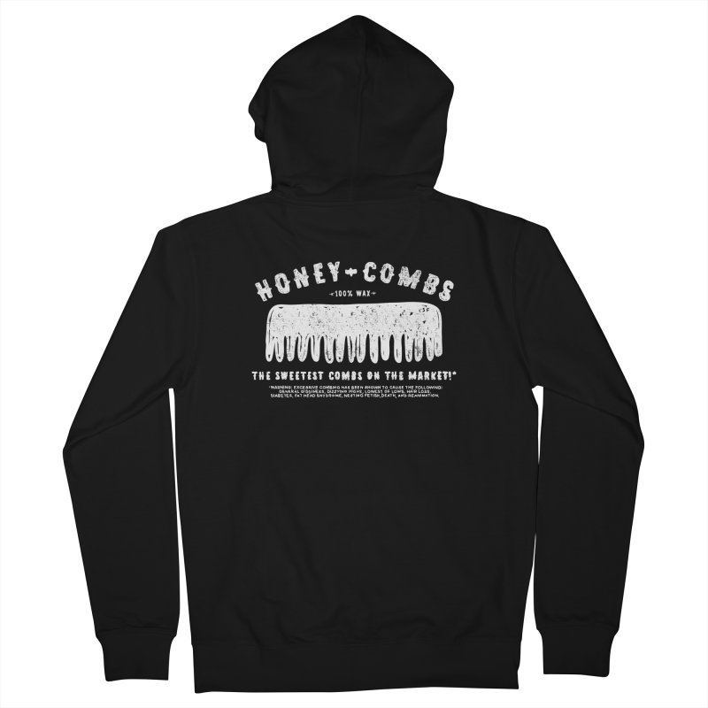 Honey-Combs : Lights Out Edition Men's French Terry Zip-Up Hoody by Shirt Folk