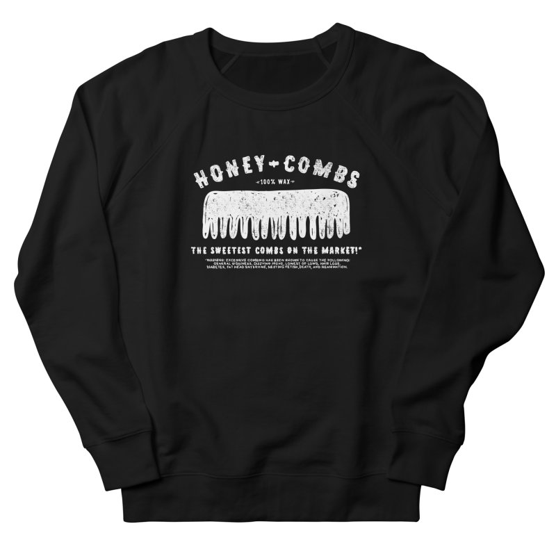 Honey-Combs : Lights Out Edition Women's French Terry Sweatshirt by Shirt Folk