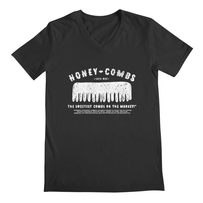 Honey-Combs : Lights Out Edition Men's Regular V-Neck by Shirt Folk