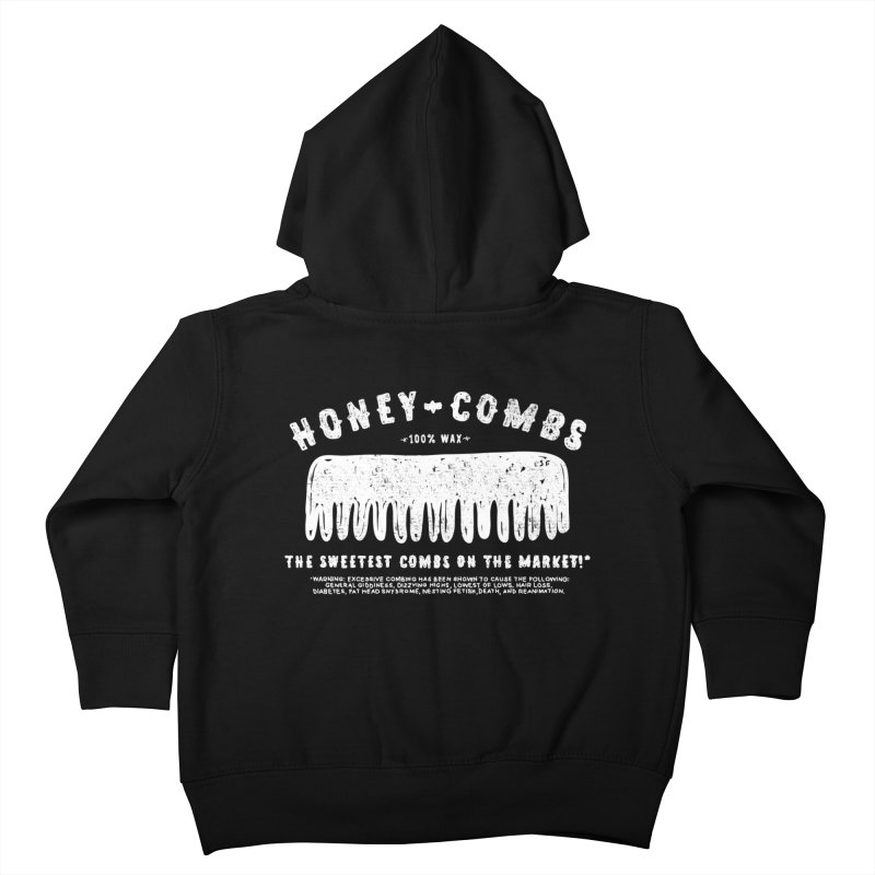 Honey-Combs : Lights Out Edition Kids Toddler Zip-Up Hoody by Shirt Folk