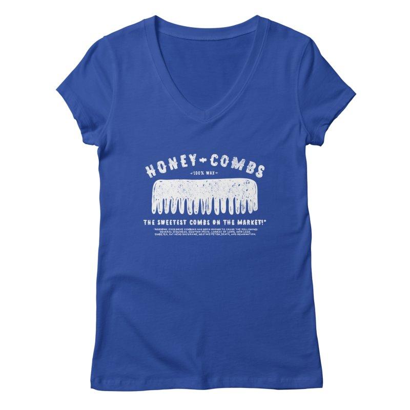 Honey-Combs : Lights Out Edition Women's Regular V-Neck by Shirt Folk