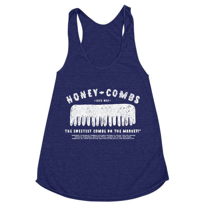 Honey-Combs : Lights Out Edition Women's Racerback Triblend Tank by Shirt Folk