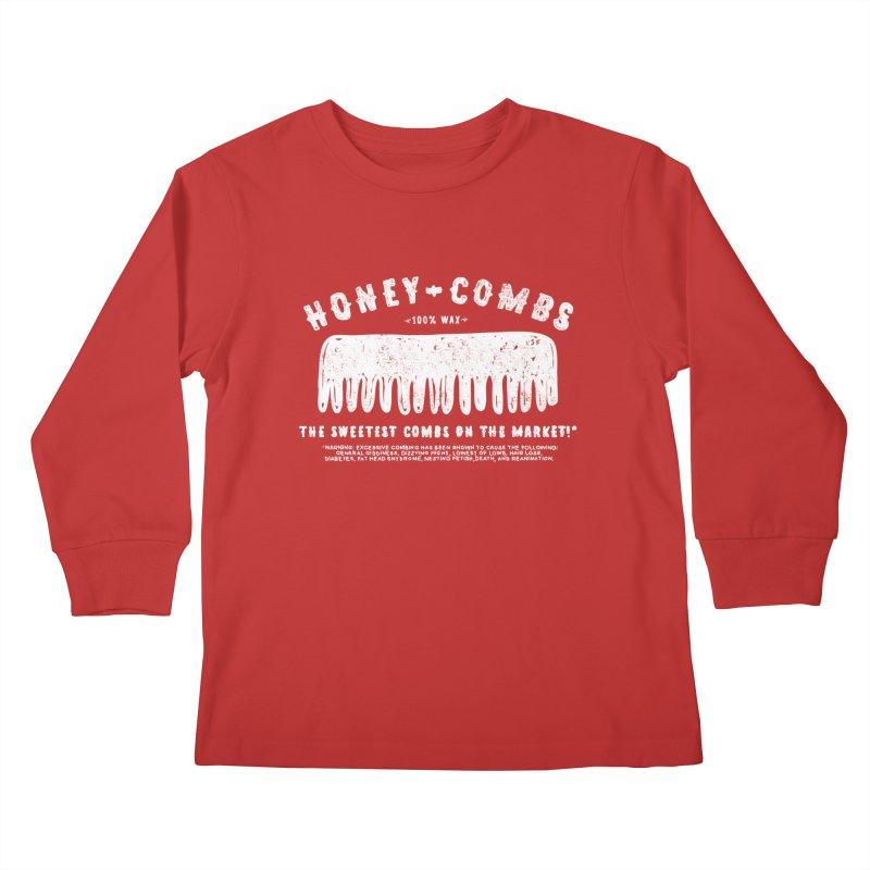 Honey-Combs : Lights Out Edition Kids Longsleeve T-Shirt by Shirt Folk