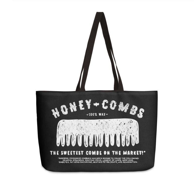 Honey-Combs : Lights Out Edition Accessories Weekender Bag Bag by Shirt Folk