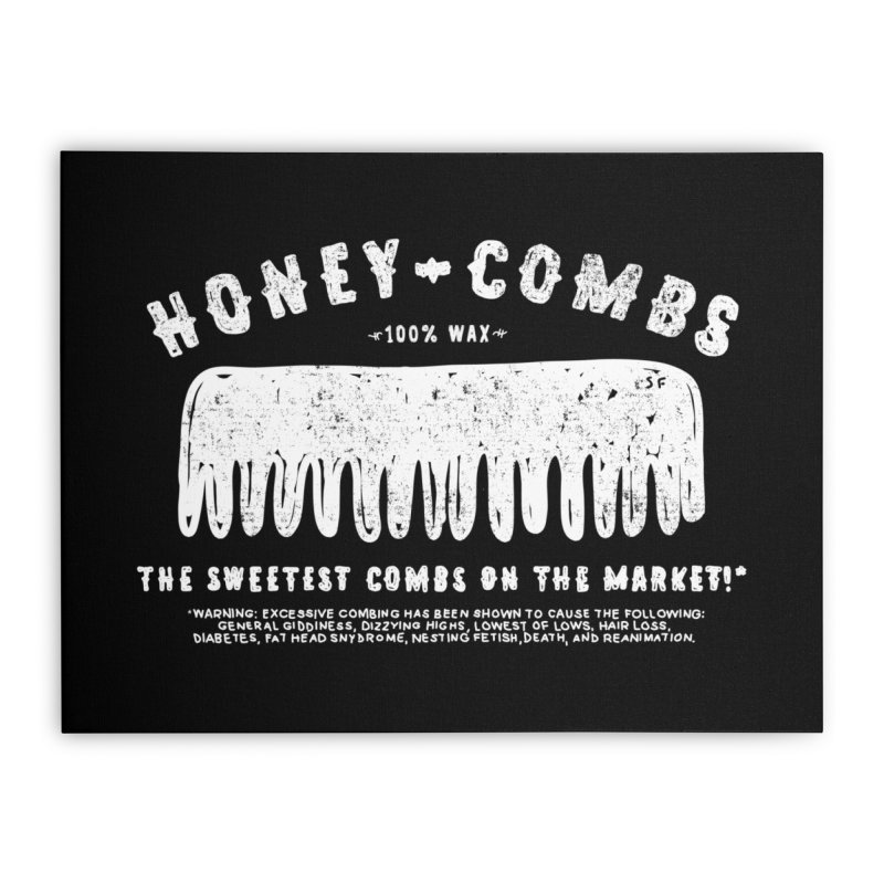 Honey-Combs : Lights Out Edition Home Stretched Canvas by Shirt Folk