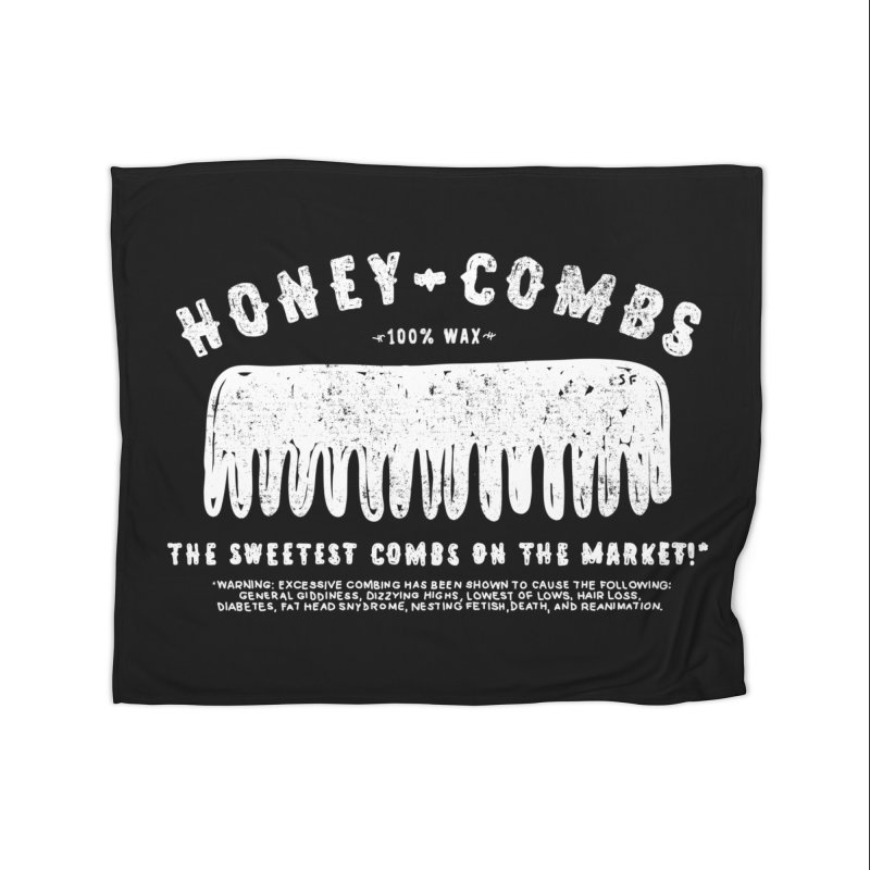Honey-Combs : Lights Out Edition Home Fleece Blanket Blanket by Shirt Folk