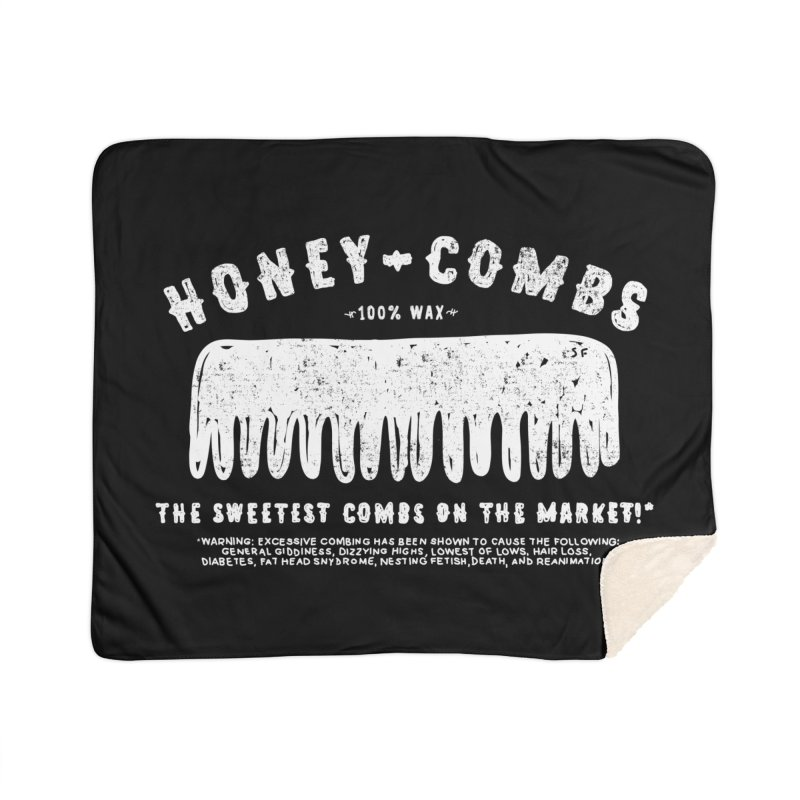 Honey-Combs : Lights Out Edition Home Sherpa Blanket Blanket by Shirt Folk